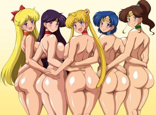セーラームーン二次元エロ画像!制服を脱いだ裸の美少女たち